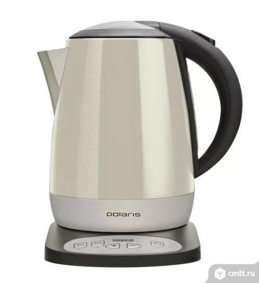 Новый, гарантия год электронный чайник POLARIS PWK 1727CAD, черный и шампань