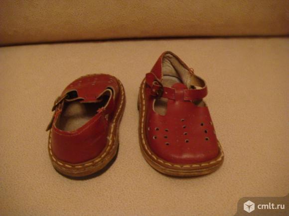 Сандали детские (кожа ) СССР винтаж. Фото 3.