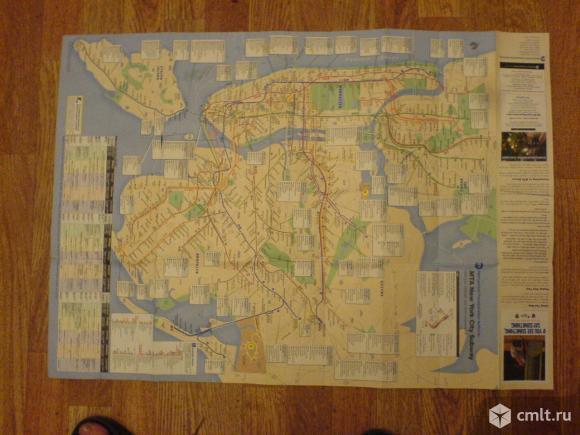 Нью-Йорк.Маршруты всех видов транспорта карта. Фото 1.