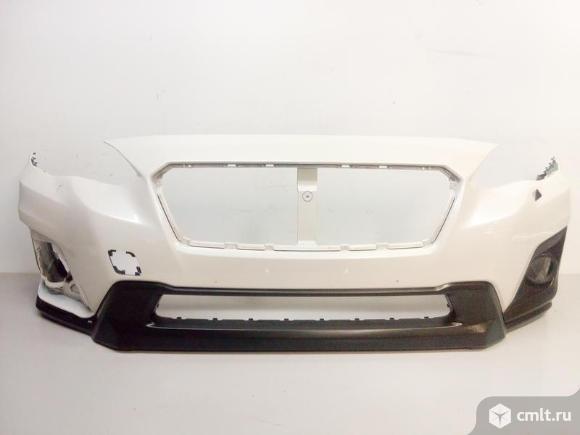 Бампер передний под омыв + наклдка птф SUBARU XV 17- б/у 57704FL010 57731FL091 3*. Фото 1.