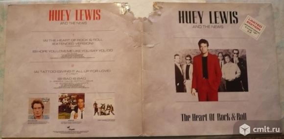 """Грампластинка (винил). 12"""" EP. Huey Lewis And The News. The Heart Of Rock & Roll. (C) 1986 Chrysalis. Фото 1."""