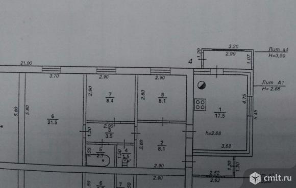 Часть дома 71,3 кв.м. Фото 1.