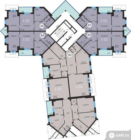 2-комнатная квартира 66,7 кв.м