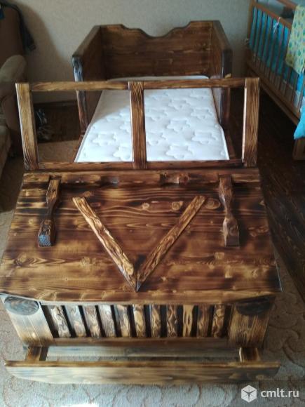 Кровать машинка из дерева.. Фото 4.