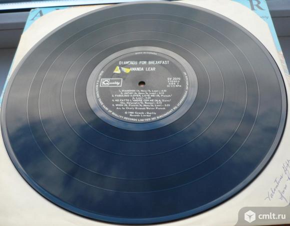 "Грампластинка (винил). Гигант [12"" LP]. Amanda Lear. Diamonds For Breakfast. 1980. Quality. Canada.. Фото 8."