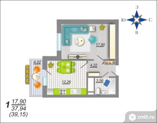 1-комнатная квартира 40 кв.м на Московском проспекте рядом с памятником воинской Славы «Пирамида»!!!