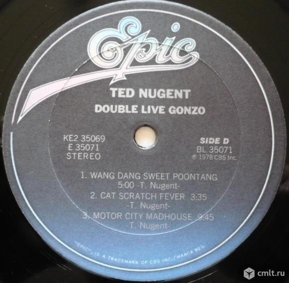 "2 грампластинки (винил) [2 LPs]. Гигант [12"" LP]. Ted Nugent. Double Live Gonzo! 1978. CBS/Epic. USA. Фото 8."