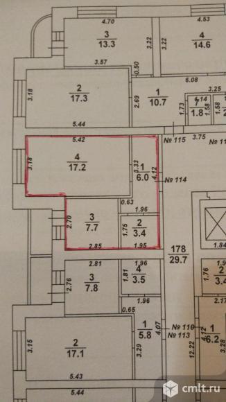 Дизайнерская 1-комнатная квартира 35 кв.м