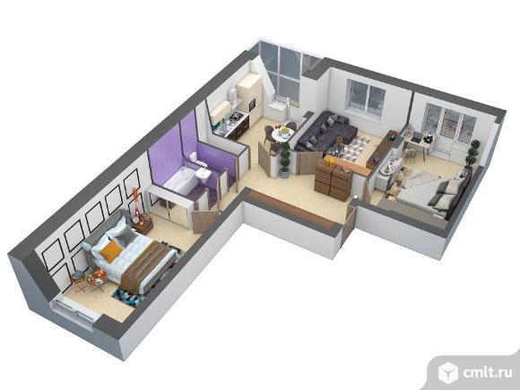 3-комнатная квартира 76,7 кв.м