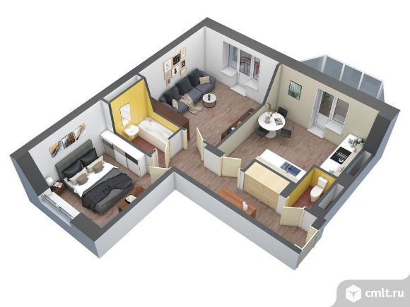 2-комнатная квартира 60,4 кв.м