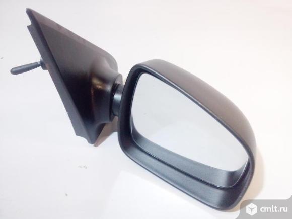 Зеркало правое механика RENAULT LOGAN 14- б/у 963018898R 963018428R 4*. Фото 1.