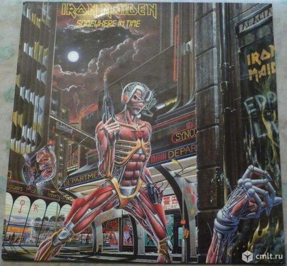 "Грампластинка (винил). Гигант [12"" LP]. Iron Maiden. Somewhere In Time. 1986. Gala Records, 1993.. Фото 1."