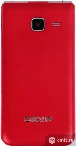 На гарантии раскладушка сотовый телефон DEXP Larus V5 красный. Фото 1.