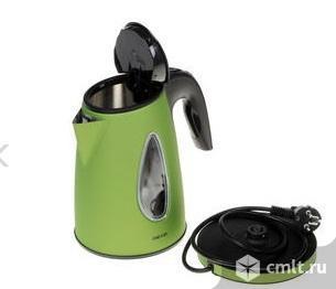 Как новый, гарантия нержавейка, фильтр электрочайник DEXP KS-1700 зеленый