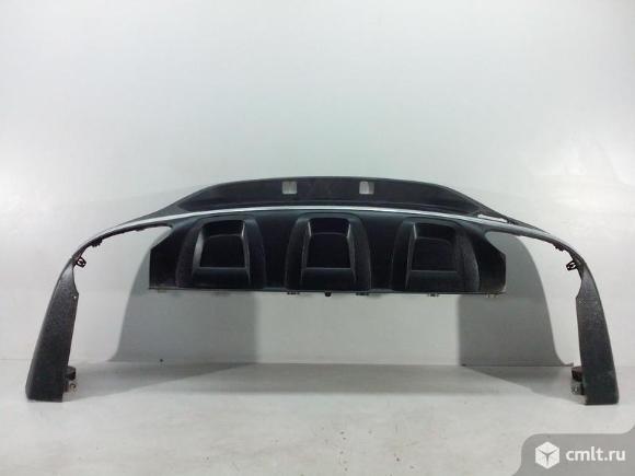 Юбка спойлер бампера заднего под парк + хром молдинг MERCEDES BENZ GLC X253 15- б/у A2538859500 A253. Фото 1.