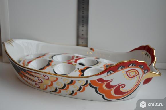 Фарфоровый лоток для яиц Курочка Ряба. Вербилки.. Фото 1.