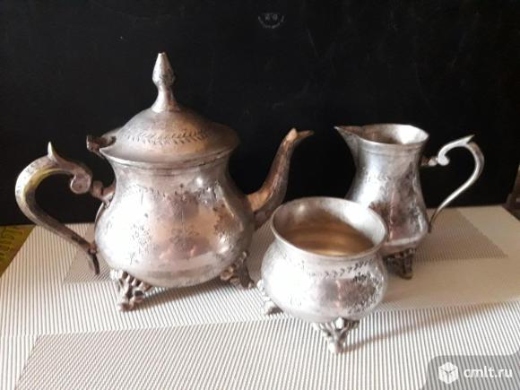 Старинный чайный набор. Фото 1.