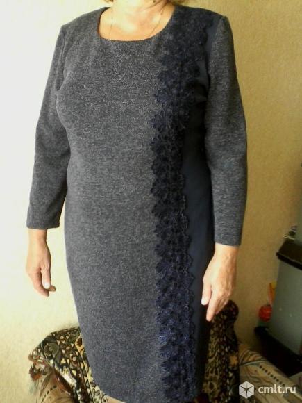 Платье трикотажное. Фото 1.