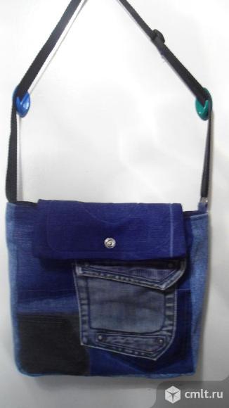Сумка джинсовая ручной работы. Фото 1.