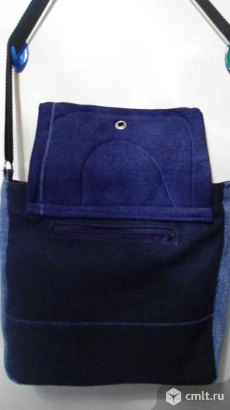Сумка джинсовая ручной работы. Фото 3.