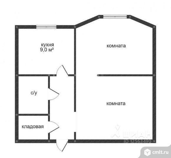 2-комнатная квартира 47,6 кв.м