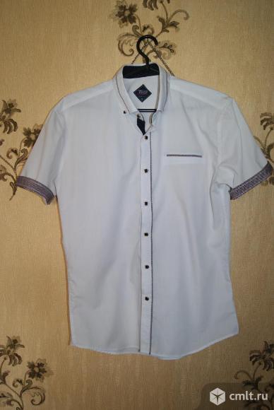 Продам сорочку белую с коротким рукавом мужскую турецкую
