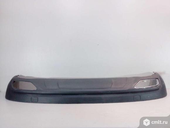 Юбка спойлер заднего бампера  AUDI Q5 17- б/у  80A8074344W3 4*. Фото 1.