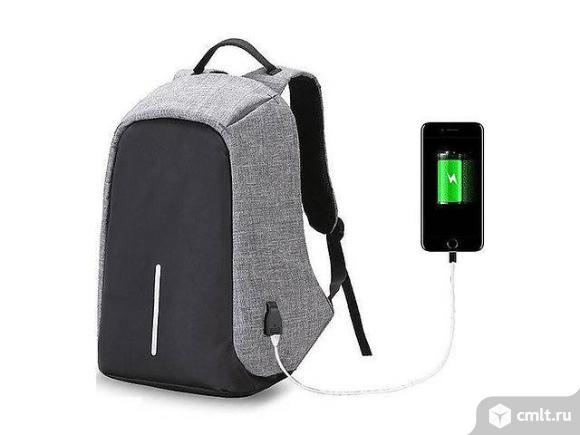 Рюкзак Bobby антивор с USB зарядкой новые. Фото 1.