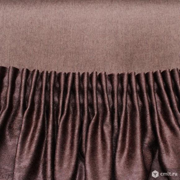 Шторы цвета венге и темно-коричневого
