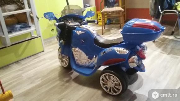 Продаю электромотоцикл HJ9888 синий. Фото 4.