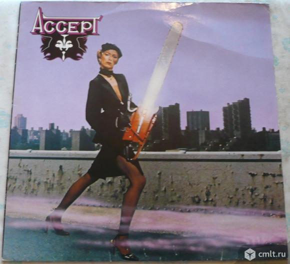 "Грампластинка (винил). Гигант [12"" LP]. Accept. Accept. (P) 1979 Metronome GmbH. Brain. W.-Germany.. Фото 1."