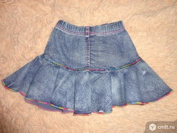 Отличная джинсовая юбочка 4-5 лет