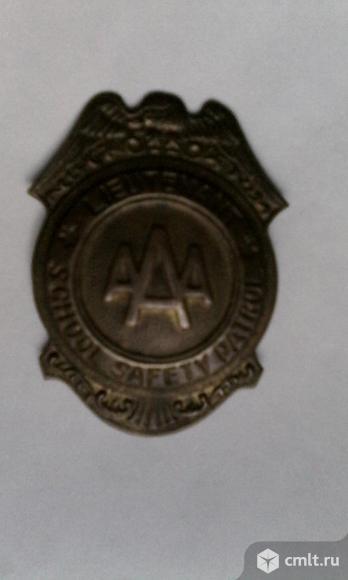 Жетон, бейдж AAA school safety patrol. Фото 1.