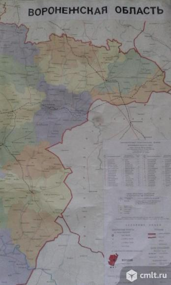Карты Воронежской области настенные, 1983г., 1987г.. Фото 1.
