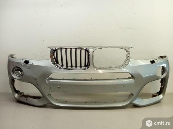 Бампер передний пакет PERFORMANCE + птф правая BMW X4 F26 14- б/у51118064117 63177317252 3*. Фото 1.