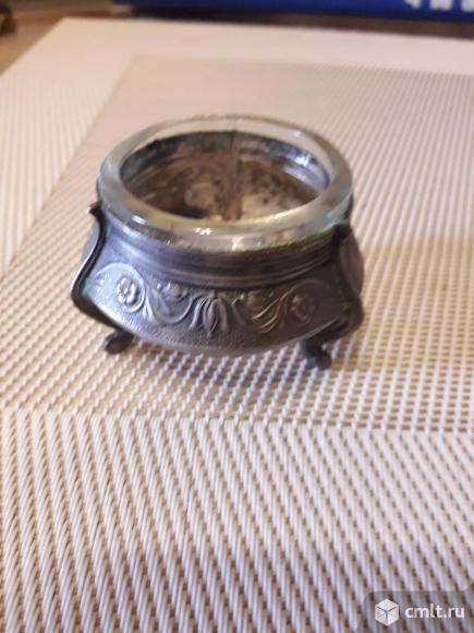Серебряная солонка. Фото 1.