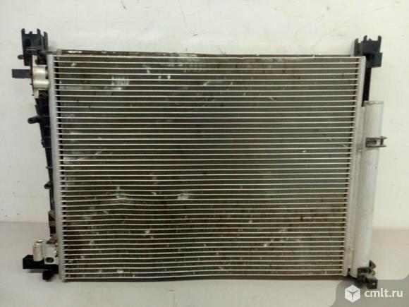 Кассета радиатор охлаждения + кондиционера RENAULT LOGAN / SANDERO 14- б/у 214106179R 921006843R  3*. Фото 1.