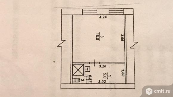 1-комнатная квартира 23,5 кв.м