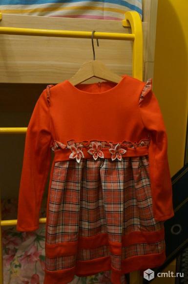 Нарядное платье для девочки 5-6 лет. Фото 1.