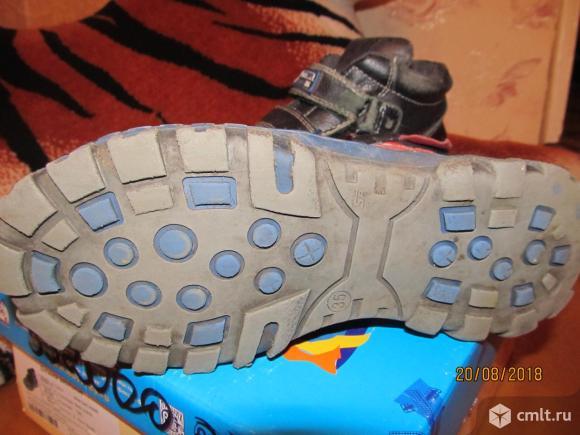 Демисезонные кожаные ботинки КОТОФЕЙ. Фото 5.