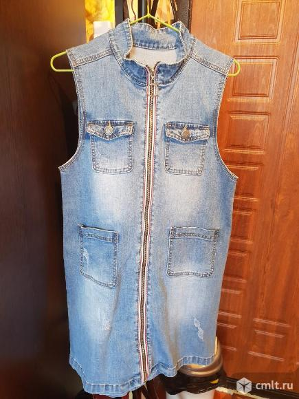 Продам новый джинсовый сарафан! Торг!. Фото 1.