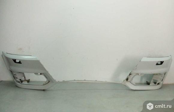 Бампер передний под парктр и омыв фар AUDI Q7 16- б/у  4M0807065BGRU 3*. Фото 1.