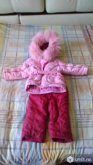 Продаю Комплект (зимний комбинезон и куртка), размер 80, в отличном состоянии