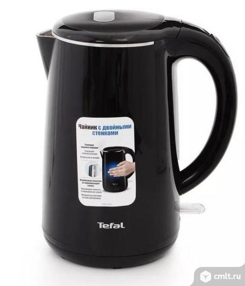 Как новый, гарантия двойная стенка электрочайник Tefal Safe to Touch KO260830 черный