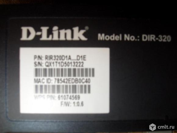 D-link DiR-320 Wi-Fi роутер H/W D1 F/W 1.0.6. Фото 2.