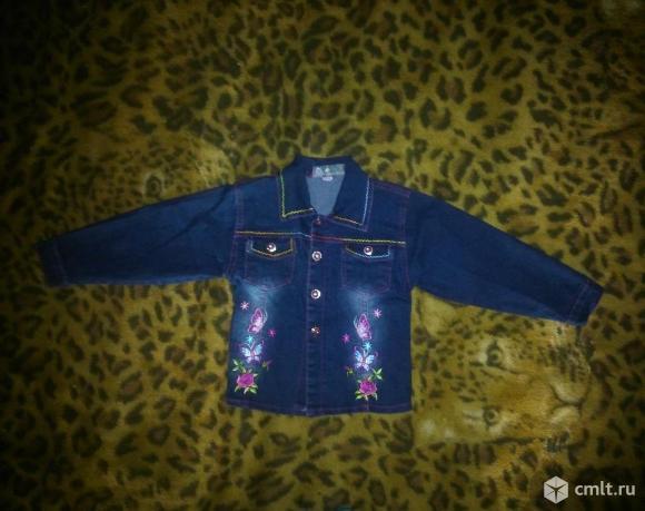 Куртка джинсовая на рост 110-116 см