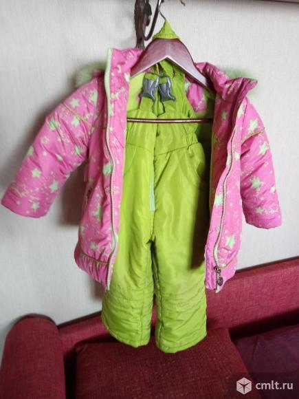 Продаю зимний комплект для девочки, куртка и полукомбез