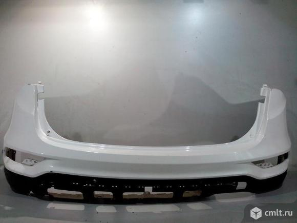 Бампер задний под парктр + юбка спойлер HYUNDAI SANTA-FE 15-18 б/у 866112W500 866502W500 4*. Фото 1.