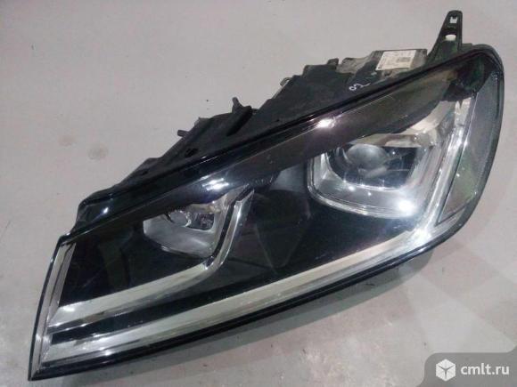 Фара левая адаптивная LED XENON VW TOUAREG 15-17 б/у 7P1941043A 4*. Фото 1.