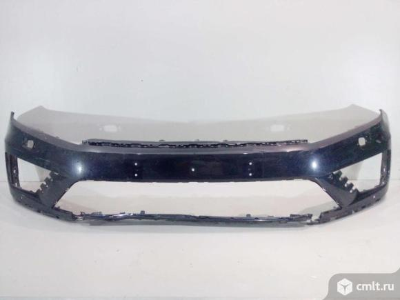 Бампер передний с накладкми  VW TOUAREG 15- б/у 7P6807221FGRU 7P6807221AGRU 7P6854661D041 7P6854662D. Фото 1.